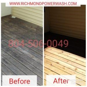 Richmond Power Wash deck cleaning 23838
