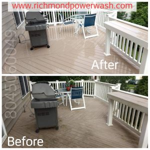 Composite deck cleaning