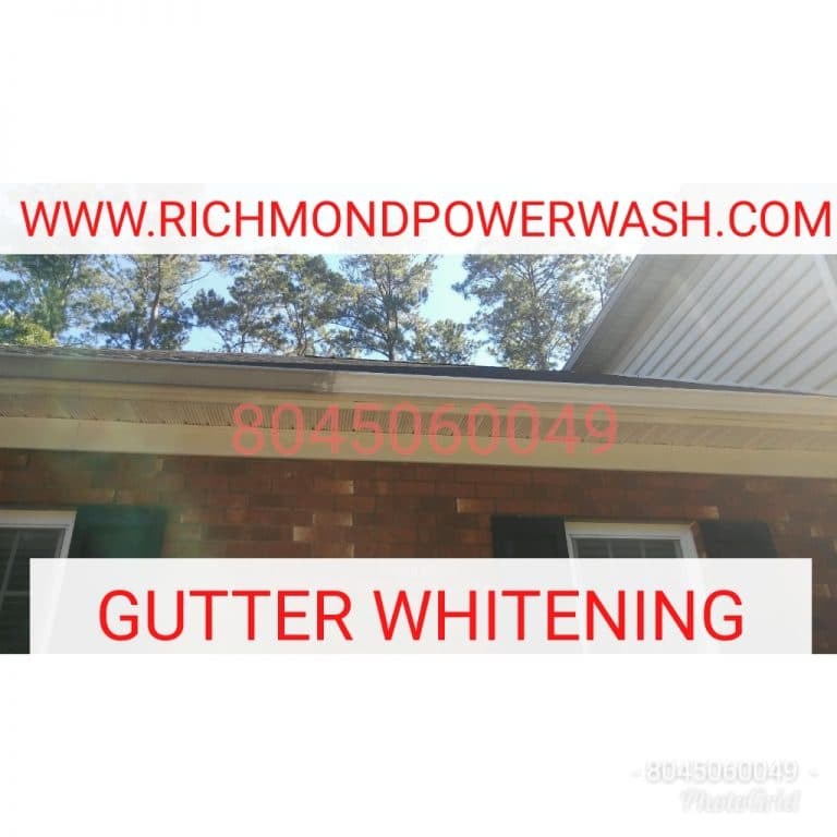 Richmond_Power_Wash_gutter_whitening mechanicsville va