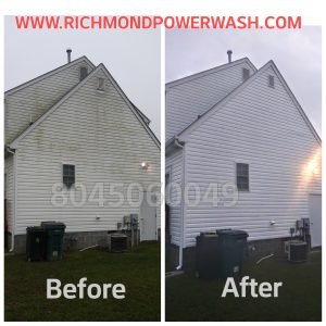 Richmond Power Wash low pressure siding cleaning