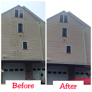 Richmond_Power_Wash_three_story_siding_cleaning_Chester_VA