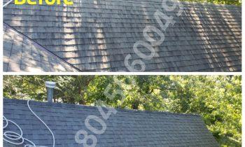 Richmond Power Wash low pressure roof cleaning glen allen va